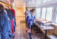 Buffet met lekkere Italiaanse gerechten op Hotelschip
